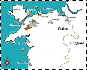 Map Of England Castles.An Iron Ring Of Castles Sarah Woodbury